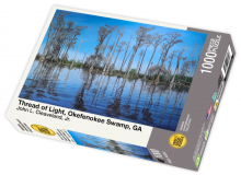 Thread of Light, Okefenokee Swamp, GA by John Cleaveland - 1000 piece jigsaw puzzle front of box