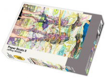 Paper Boats II by Jeffrey Whittle - 1000 piece jigsaw puzzle front of box