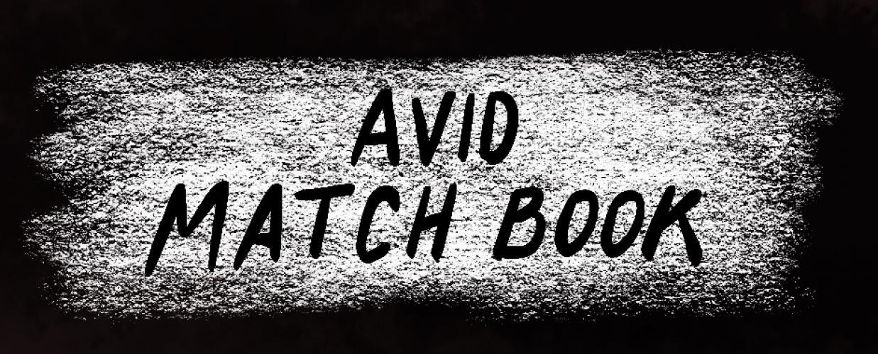 Avid Match Book banner
